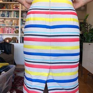 Jcrew multicolored striped pencil skirt